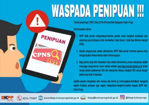 Badan Kepegawaian Pendidikan Dan Pelatihan Kabupaten Kulon Progo